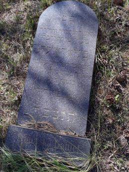 The tombstone, finally identified.