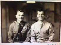 Leo M. Kwiatkowski and his younger brother, Bernard Kwiatkowski c. 1940-1941.