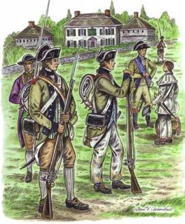"""The grey color of the regiment's frock coats resulted in the nickname 'Jersey Greys."""" Updated uniforms were later issued, at which time the group became known as the """"Jersey Blues."""" http://www.jerseygreys.org/history.html"""